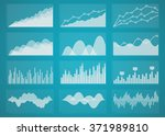 graphs and charts | Shutterstock . vector #371989810
