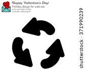 web line icon. refresh  three... | Shutterstock .eps vector #371990239