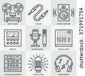 analog recording vintage music... | Shutterstock .eps vector #371991754