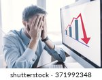 frustrated stressed shocked... | Shutterstock . vector #371992348