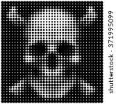 human skull and crossbones in... | Shutterstock .eps vector #371995099