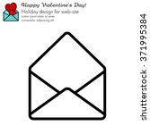 web line icon. open envelope   Shutterstock .eps vector #371995384