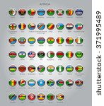 set of round glossy flags of... | Shutterstock .eps vector #371995489