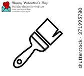 web line icon. brush for... | Shutterstock .eps vector #371995780