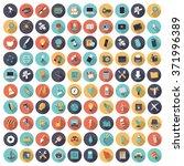 flat design icons for... | Shutterstock . vector #371996389