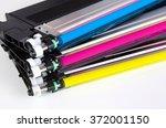 toner cartridge set for laser... | Shutterstock . vector #372001150