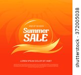 summer sale banner | Shutterstock .eps vector #372005038