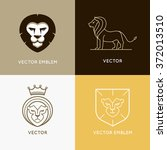 Vector Set Of Lion Logo Design...