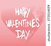 happy valentine's day. | Shutterstock .eps vector #372014059