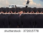 several business men standing... | Shutterstock . vector #372015778