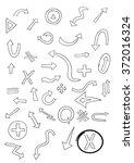 set of hand drawn arrows....   Shutterstock .eps vector #372016324