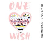 one wish type slogan for... | Shutterstock .eps vector #372017440
