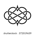 intertwined hearts isolated.... | Shutterstock .eps vector #372019639