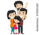 vector illustration set of ... | Shutterstock .eps vector #372021100