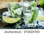 Lime Lemonade With Rosemary An...