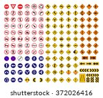 all traffic signs vector | Shutterstock .eps vector #372026416