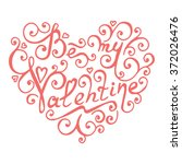 be my valentine. isolated... | Shutterstock .eps vector #372026476
