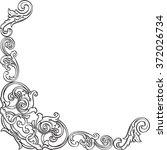 ornate vintage fine real corner ... | Shutterstock . vector #372026734