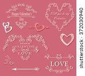 calligraphic design elements in ... | Shutterstock .eps vector #372030940