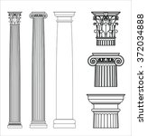 Set Of Ancient Greek Columns....