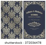 wedding invitation cards ... | Shutterstock .eps vector #372036478