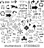 vector hand drawn arrows set... | Shutterstock .eps vector #372038623