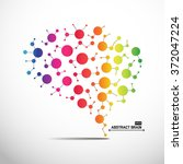 abstract brain graphic | Shutterstock .eps vector #372047224