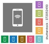 wireless mobile flat icon set...