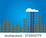 competition concept cloud with... | Shutterstock .eps vector #372053779