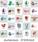 collection of colorful abstract ...   Shutterstock .eps vector #372054163