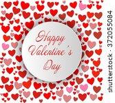 happy valentine's day. round... | Shutterstock .eps vector #372055084