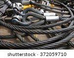 heavy duty steel wire rope... | Shutterstock . vector #372059710