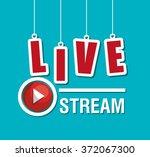 tv live stream | Shutterstock .eps vector #372067300