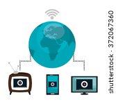 tv live stream   Shutterstock .eps vector #372067360