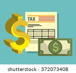 pay taxes graphic  | Shutterstock .eps vector #372073408