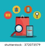 digital marketing and ecommerce | Shutterstock .eps vector #372073579