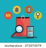digital marketing and ecommerce | Shutterstock .eps vector #372073579