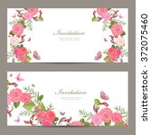 collection horizontal banners...   Shutterstock .eps vector #372075460