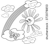 coloring  book.  hand drawn.... | Shutterstock .eps vector #372078853