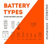 collection battery recharger... | Shutterstock .eps vector #372081964