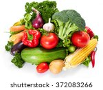 fresh vegetables on the white | Shutterstock . vector #372083266