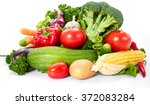 fresh vegetables on the white | Shutterstock . vector #372083284
