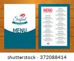 seafood restaurant menu on... | Shutterstock .eps vector #372088414