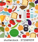 food and nutrition | Shutterstock .eps vector #372089059