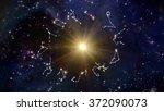 zodiac signs   solar and twelve ... | Shutterstock . vector #372090073
