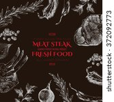 vector meat steak sketch...   Shutterstock .eps vector #372092773