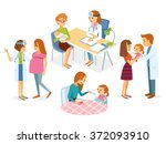 pregnancy  health care  doctor... | Shutterstock .eps vector #372093910