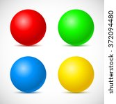 collection of colorful glossy... | Shutterstock . vector #372094480
