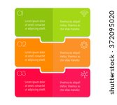 vector paper progress steps for ...   Shutterstock .eps vector #372095020