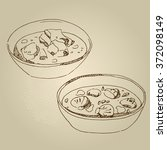 vector hand drawn food sketch...   Shutterstock .eps vector #372098149